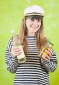 Female Sailor With   Vodka