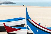 Boats On The Beach, Nazare (portugal)