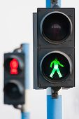 Two Traffic Lights For Pedestrians