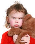 Little Girl Grabs Her Stuffed Animal