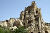 stock photo of goreme  - Ancient Christian cave churches Goreme Open Air Museum Cappadocia Turkey - JPG