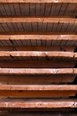 Old Wooden Shelves With The Natural Texture