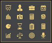 Business and financial icons. Vector icons