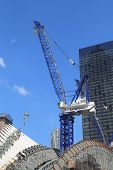 Construction of the World Trade Center Transportation Hub by Santiago Calatrava continues in Manhatt