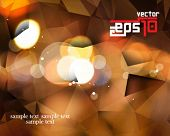 eps10 vector defocused lights and polygon elements background