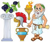 Greek theme collection 1 - eps10 vector illustration.