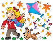 Kites theme image 7 - eps10 vector illustration.