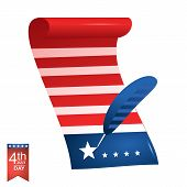 4th of July American independence day illustration.