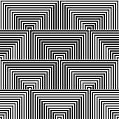 Seamless geometric op art texture. Vector art.
