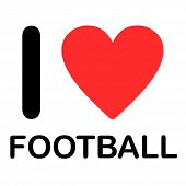 Font Type Illustration - I Love Football