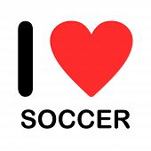 Font Type Illustration - I Love Soccer
