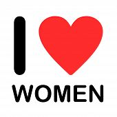 Font Type Illustration - I Love Women