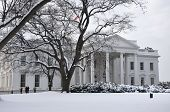 White House in snow.