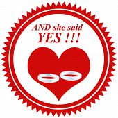 She Said Yes!-stamp