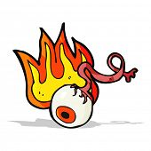 cartoon gross flaming eyeball