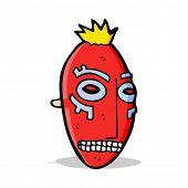 cartoon tribal mask