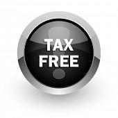 tax free chrome glossy web icon