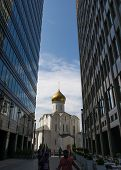 MOSCOW - JUNE 25, 2014: Church of St. Nicholas on Tverskaya street near metro Belorusskaya