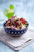 Rustic Tuna Salad with White Beans, Tomatoes and Chicory