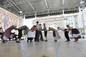ZAGREB, CROATIA - JULY 18: Members of folk group Hasselt (Flanders), Folk Group De Boezeroenen from Belgium during the 48th International Folklore Festival in center of Zagreb,Croatia on July 18, 2014