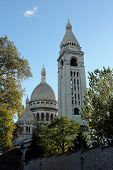 PARIS, FRANCE - NOV 04, 2012: The Basilica of the Sacred Heart of Paris located at the highest point