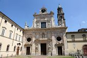 PARMA, ITALY - MAY 01, 2014: San Giovanni Evangelista is a church in Parma, northern Italy, part of