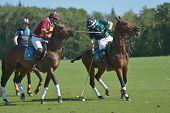 TSELEEVO, MOSCOW REGION, RUSSIA - JULY 26, 2014: Match Tseleevo Polo Club - Oxbridge Polo Team durin