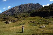 Hiking In The Altai poster