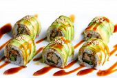 Dragon roll maki sushi