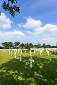 The American cemetery at Omaha Beach, Normandy, France.