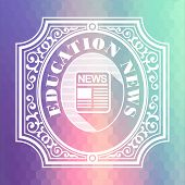 Education News. Pastels Hexagonal Background.