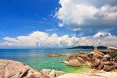 Famous Grandfather Rock On Lamai Beach. Koh Samui, Thailand