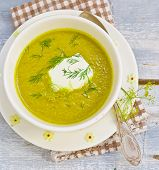 picture of marrow  - vegetable marrows sour cream and fennel soup - JPG
