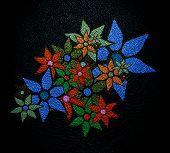 Vintage Floral Background or Textured