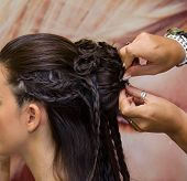 Beauty Hairstyle With Pigtails