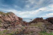 stock photo of bute  - Rocky coast of Mull Inner Hebrides Scotland - JPG