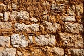 Old Wall Texture With Large Rocks
