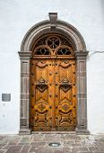 Wooden door of the Sagrario church
