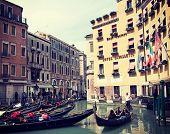 VENICE, ITALY - MAY, 2014: Gondoliers in Venice, Italy.