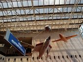 Aircrafts Hang In The Air At The National Air And Space Museum In Washington