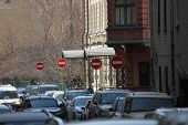 The Signs Drive It Is Forbidden On The Street Of Moscow, Russia