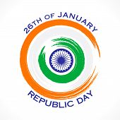 foto of ashok  - happy republic day or 26 January greeting design vector - JPG