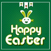Happy Easter cards illustration with Easter bunny.