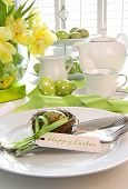 Place Setting With Place Card Set For Easter