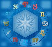 Vector zodiac circle