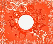 Grunge Christmas vector background illustration