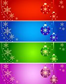 Abstract Christmas background in 4 colors vector