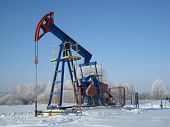 Oil Pump Jack In Winter