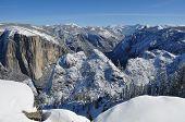 Snowy Yosemite Valley