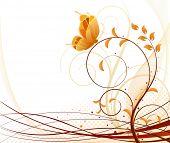 Autumn vector floral background
